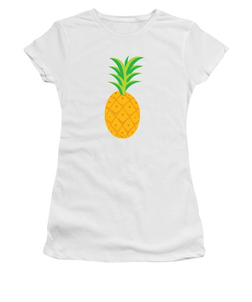 Tropical Fruits Ananas Pineapple Women's T-Shirt (Junior Cut) by MGdezigns