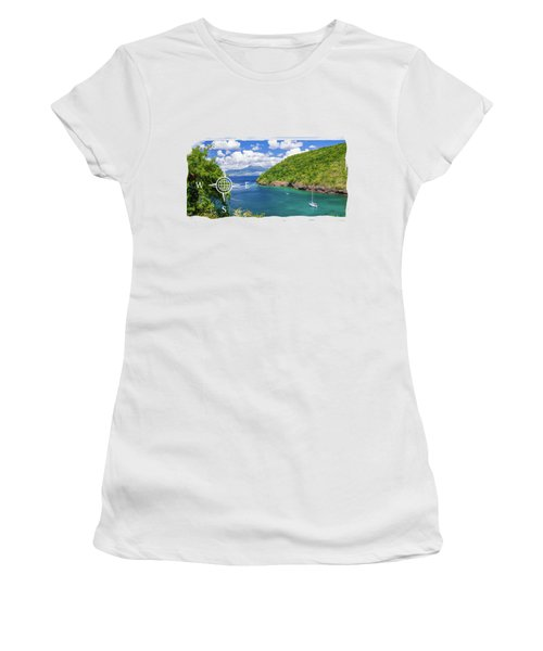 Tropical Lagoon Women's T-Shirt (Junior Cut) by Konstantin Sevostyanov