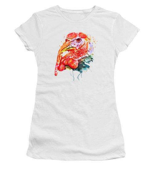Turkey Head Women's T-Shirt (Junior Cut) by Marian Voicu
