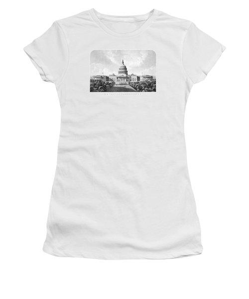 Us Capitol Building - Washington Dc Women's T-Shirt (Junior Cut) by War Is Hell Store