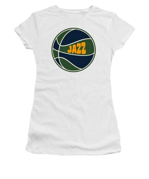 Utah Jazz Retro Shirt Women's T-Shirt (Junior Cut) by Joe Hamilton