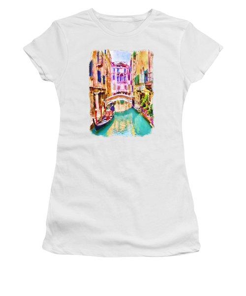 Venice Canal 2 Women's T-Shirt (Junior Cut) by Marian Voicu