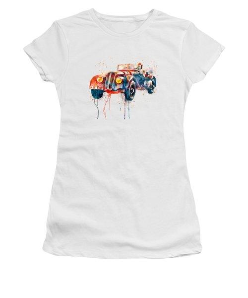 Vintage Bmw Watercolor Women's T-Shirt (Junior Cut) by Marian Voicu