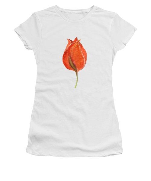 Vintage Tulip Watercolor Phone Case Women's T-Shirt (Junior Cut) by Edward Fielding