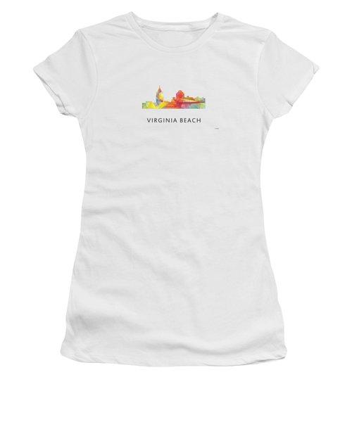 Virginia Beach  Virginia Skyline Women's T-Shirt (Junior Cut) by Marlene Watson