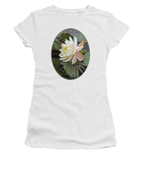 Water Lily Reflections Women's T-Shirt (Junior Cut) by Gill Billington