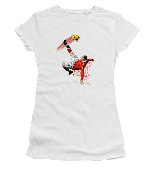 Wayne Rooney Women's T-Shirt (Junior Cut) by Armaan Sandhu