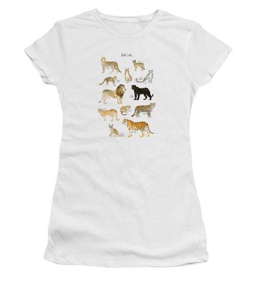 Wild Cats Women's T-Shirt (Junior Cut) by Amy Hamilton