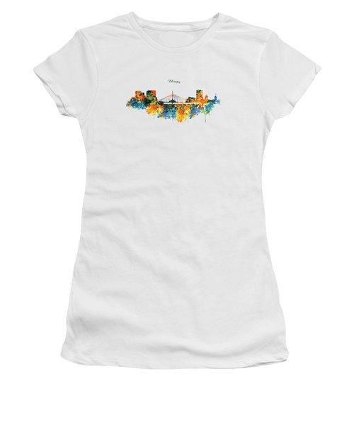 Winnipeg Skyline Women's T-Shirt (Junior Cut) by Marian Voicu
