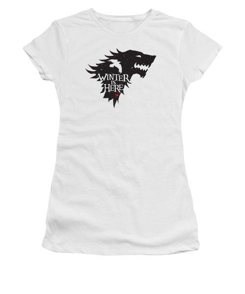 Winter Is Here Women's T-Shirt (Junior Cut) by Edward Draganski