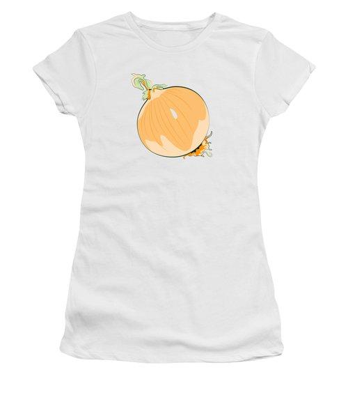 Yellow Onion Women's T-Shirt (Junior Cut) by MM Anderson