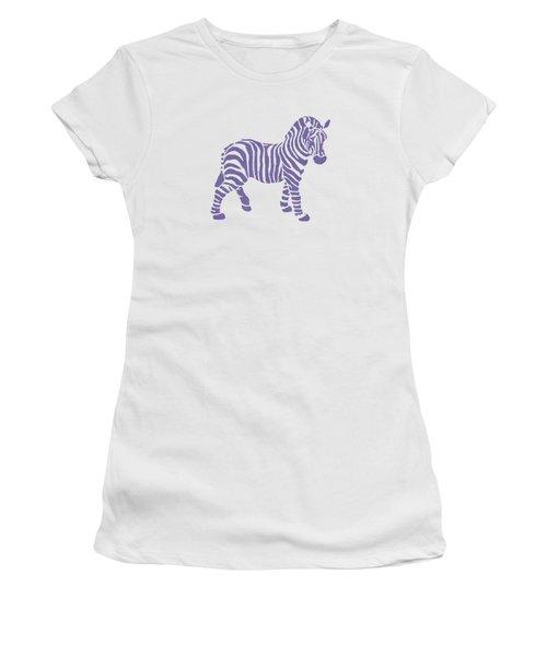 Zebra Stripes Pattern Women's T-Shirt (Junior Cut) by Christina Rollo