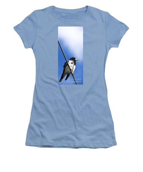 Magpie Up High Women's T-Shirt (Junior Cut) by Jorgo Photography - Wall Art Gallery
