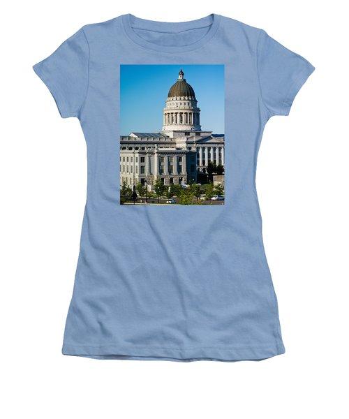 Utah State Capitol Building, Salt Lake Women's T-Shirt (Junior Cut) by Panoramic Images