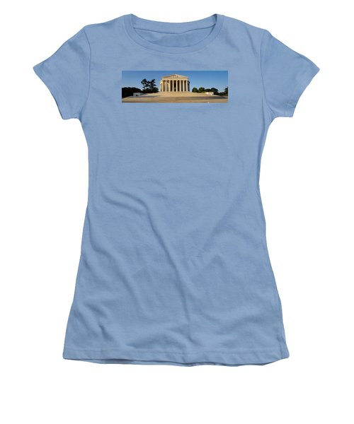 Facade Of A Memorial, Jefferson Women's T-Shirt (Junior Cut) by Panoramic Images