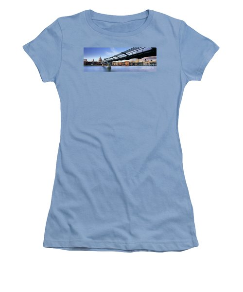 Millennium Bridge London 1 Women's T-Shirt (Junior Cut) by Rod McLean