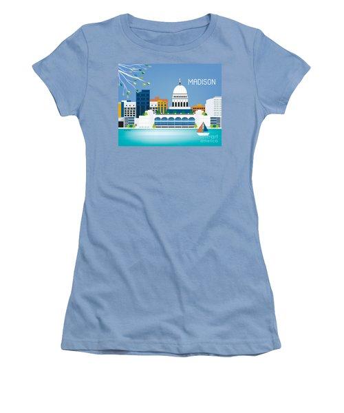 Madison Women's T-Shirt (Junior Cut) by Karen Young
