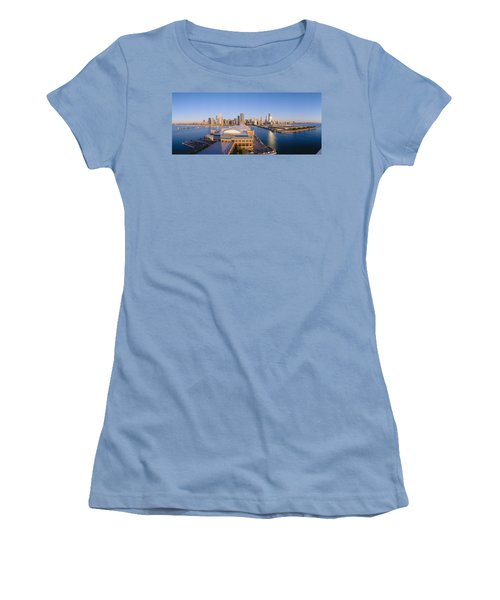 Navy Pier, Chicago, Morning, Illinois Women's T-Shirt (Junior Cut) by Panoramic Images