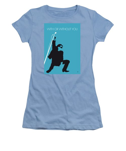 No035 My U2 Minimal Music Poster Women's T-Shirt (Junior Cut) by Chungkong Art