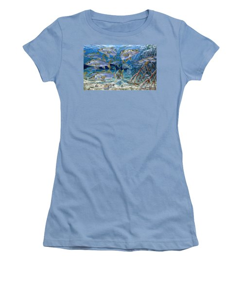 Snook Cruise In006 Women's T-Shirt (Junior Cut) by Carey Chen