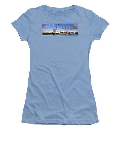 The London Eye Women's T-Shirt (Junior Cut) by Rod McLean