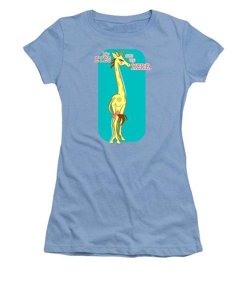 Sassy Giraffe - Fancy Women's T-Shirt (Junior Cut) by J L Meadows