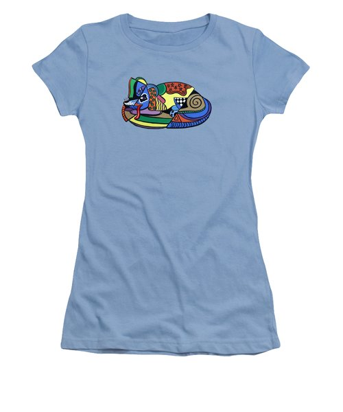 A Dog Named Picasso T-shirt Women's T-Shirt (Junior Cut) by Anthony Falbo
