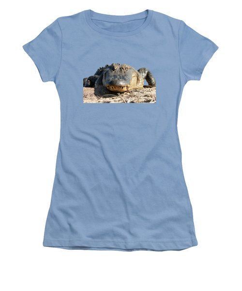 Alligator Approach .png Women's T-Shirt (Junior Cut) by Al Powell Photography USA