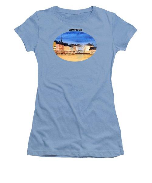 Honfleur  Evening Lights Women's T-Shirt (Junior Cut) by Bill Holkham