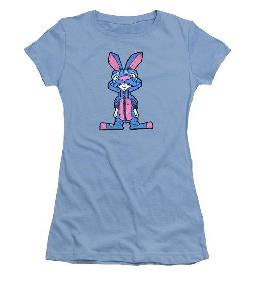Bizarre Bunny Mascot Women's T-Shirt (Junior Cut) by Bizarre Bunny