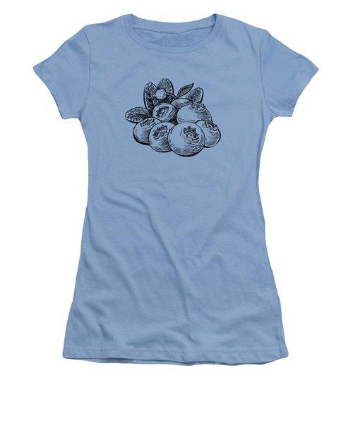 Blueberries Group Women's T-Shirt (Junior Cut) by Irina Sztukowski