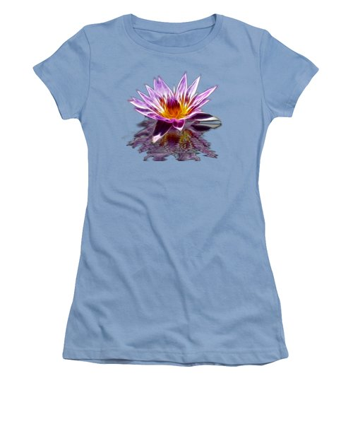 Glowing Lilly Flower Women's T-Shirt (Junior Cut) by Shane Bechler