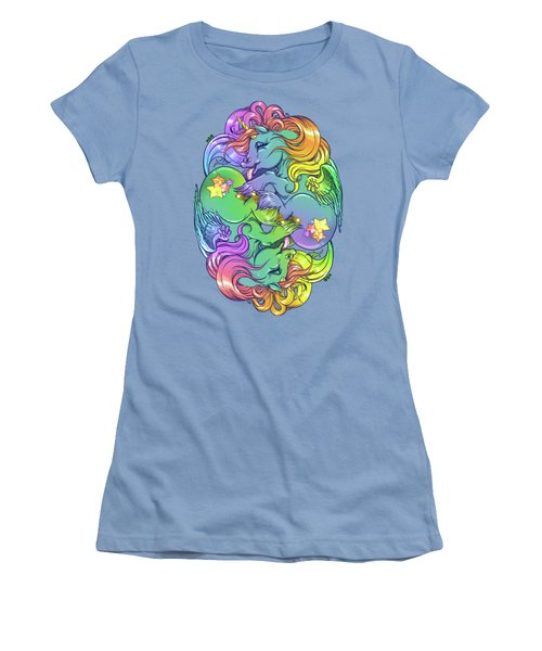Magial Lesbian Ponies Women's T-Shirt (Junior Cut) by Kelsey Bigelow