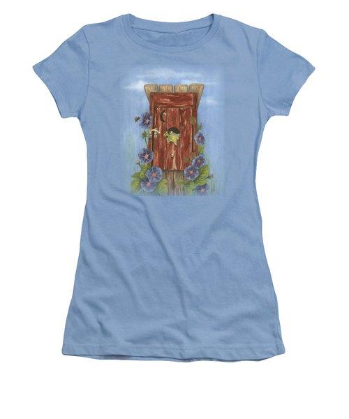 Nature Calls Women's T-Shirt (Junior Cut) by Julie Senf