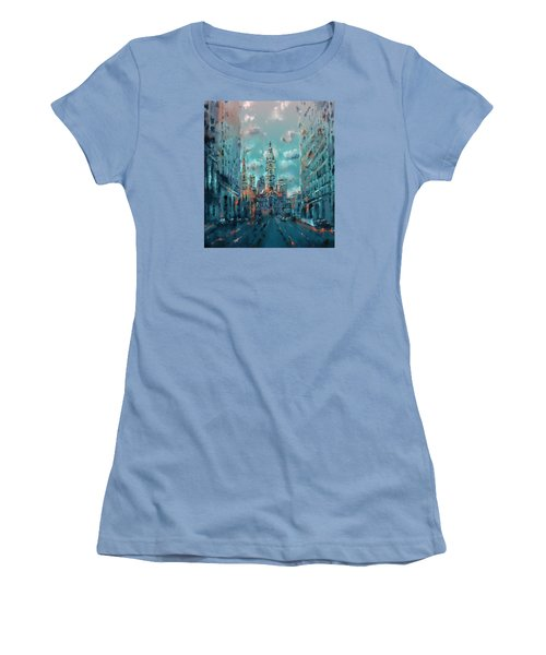 Philadelphia Street Women's T-Shirt (Junior Cut) by Bekim Art
