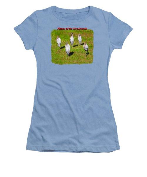 Planet Of The Woodstorks 2 Women's T-Shirt (Junior Cut) by John M Bailey