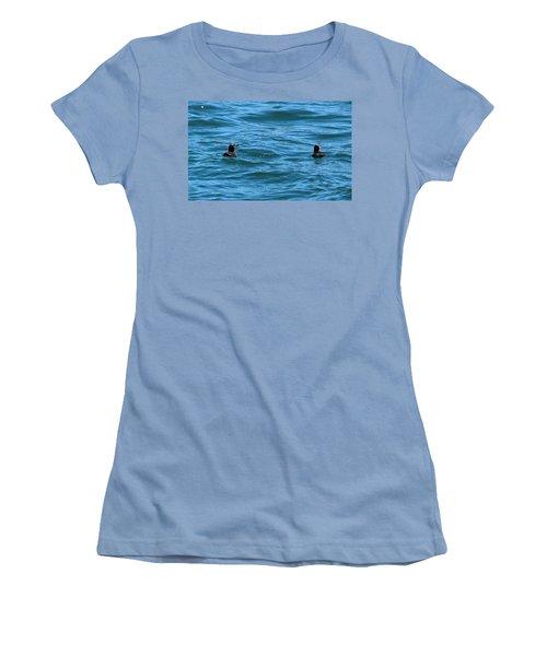 Rhinoceros Auklet Women's T-Shirt (Junior Cut) by Linda Kerkau