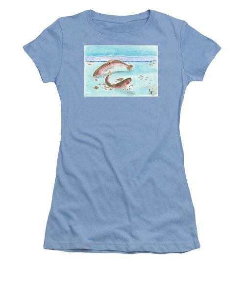 Spawning Rainbows Women's T-Shirt (Junior Cut) by Gareth Coombs