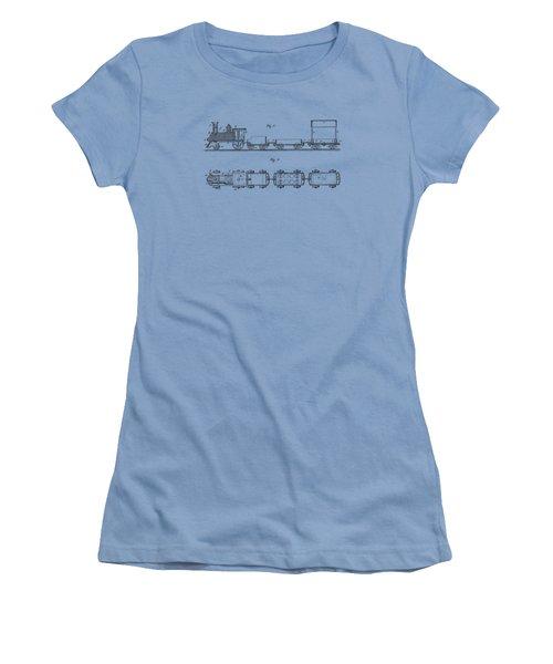 Toy Train Tee Women's T-Shirt (Junior Cut) by Edward Fielding