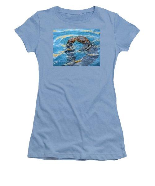 Water Kisses Women's T-Shirt (Junior Cut) by Jamie Pham