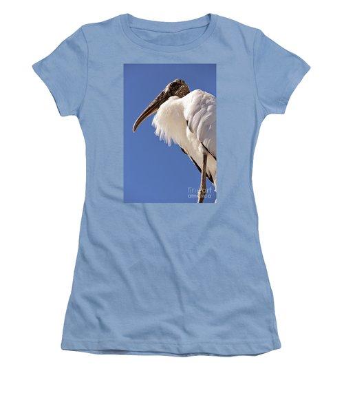 Wonderful Wood Stork Women's T-Shirt (Junior Cut) by Carol Groenen
