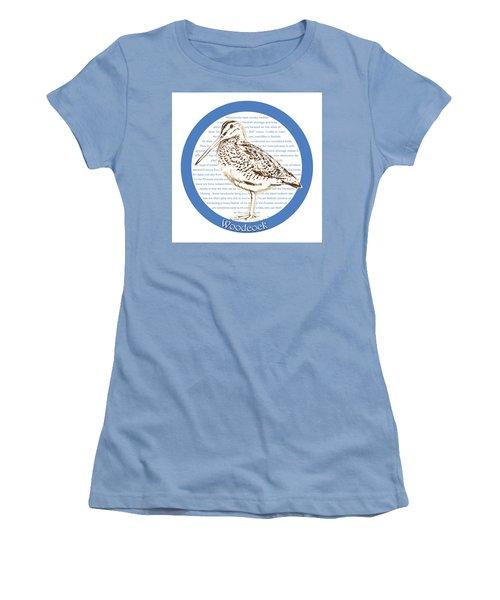 Woodcock Women's T-Shirt (Junior Cut) by Greg Joens