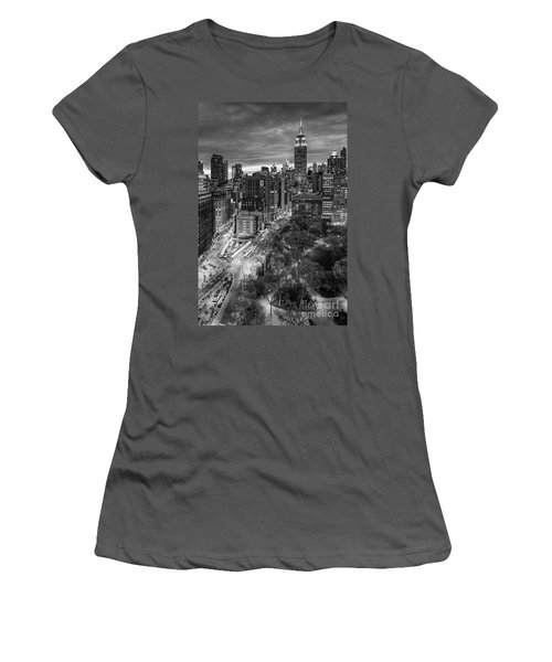 Flatiron District Birds Eye View Women's T-Shirt (Junior Cut) by Susan Candelario