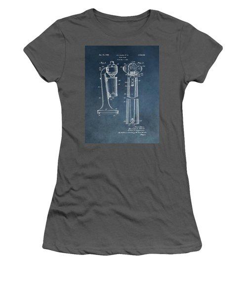 1930 Drink Mixer Patent Blue Women's T-Shirt (Junior Cut) by Dan Sproul
