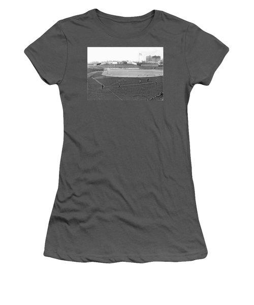 Baseball At Yankee Stadium Women's T-Shirt (Junior Cut) by Underwood Archives