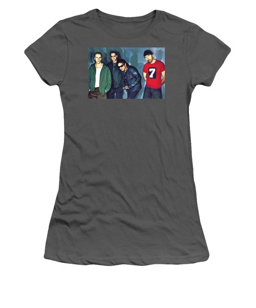 Bono U2 Artwork 5 Women's T-Shirt (Junior Cut) by Sheraz A