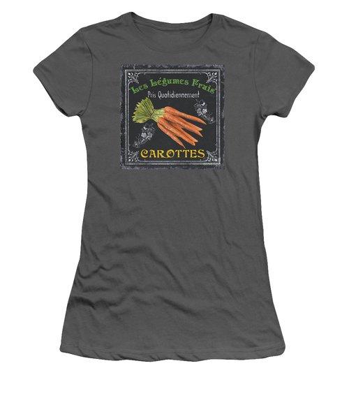 French Vegetables 4 Women's T-Shirt (Junior Cut) by Debbie DeWitt
