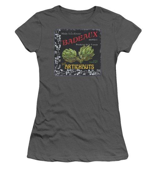 French Veggie Labels 1 Women's T-Shirt (Junior Cut) by Debbie DeWitt