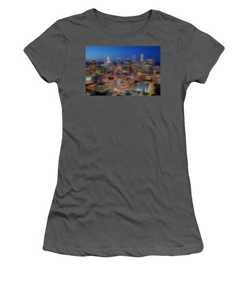 Glowing City Women's T-Shirt (Junior Cut) by Kelley King