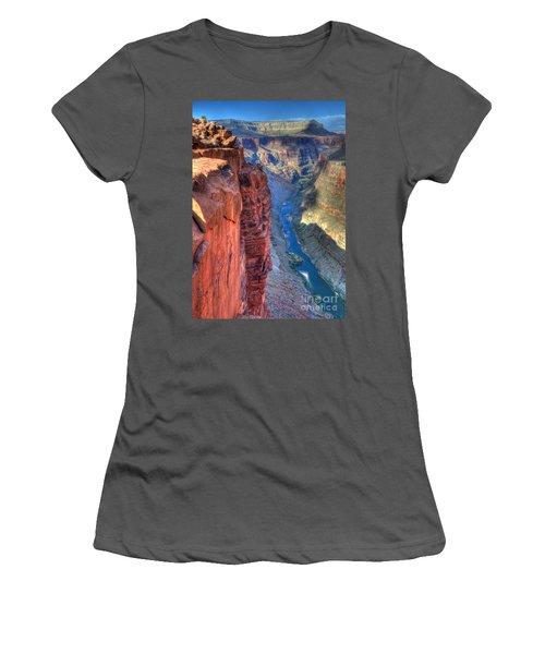 Grand Canyon Awe Inspiring Women's T-Shirt (Junior Cut) by Bob Christopher